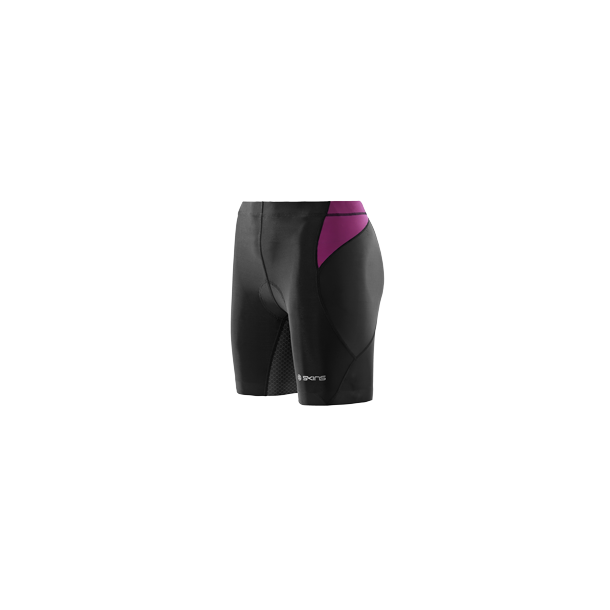 TRI400 COMPRESSION TRI SHORTS WOMEN WOMEN BLACK/ORCHID