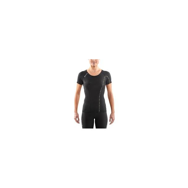 DNAmic SHORT SLEEVE TOP WOMEN BLACK/LIMONCELLO